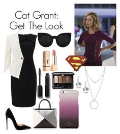 """""""Catherine Grant: Get the Look"""" by septicstranger ❤ liked on Polyvore featuring Botkier, Adrianna Papell, Slate & Willow, Christian Louboutin, Fendi, Delalle, Kate Spade, Chanel, Guerlain and Yves Saint Laurent"""