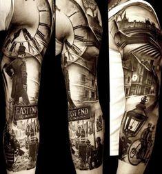 East End London tattoo! Nikko Hurtado, 3 4 Sleeve Tattoo, Tattoo Ink, Laser Tattoo, Real Tattoo, Tattoo Small, Tattoo Flash, Funny Tattoos, Cool Tattoos