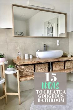 The best bathroom décor ideas including how to create a spa like bathroom picking beautiful tile and creating the wow factor around one featured item. Get some inspiration for colors styles like modern farmhouse elegant boho and more! Spa Like Bathroom, Bathroom Interior, Amazing Bathrooms, Small Bathroom, Floating Bathroom Vanities, Parisian Bathroom, Diy Bathroom Vanity, Modern Bathtub, New Toilet