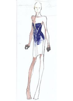 """Herve Leger's Fall 2012 collection is inspired by """"modern architecture, equestrian details and automotive interiors."""""""