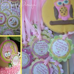 Girlie Owl Birthday Party Package Decorations  by LePoppyDesign, $103.50