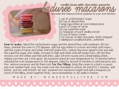 laduree macarons recipe {need to give this a try}