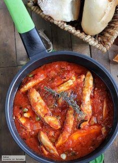 Receta de pollo con salsa de tomate picante o pechugas de pollo all' arrabbiata. Receta de estilo italiano con fotos paso a paso y trucos para su...