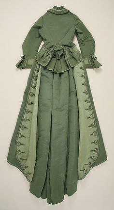 1873-1875 ___ Dress by Depret ___ Silk ___ French (Paris) ___ at The Metropolitan Museum of Art