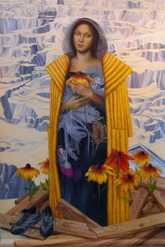"Lori Ellis ~ ""Optimism"" (2008) Oil on scrolled canvas 60 x 84 in. via loriellis.com"