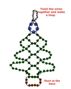 Easy Beaded Christmas Tree Earrings: excellent and easy to make last minute gift for that friend that loves to wear earrings.