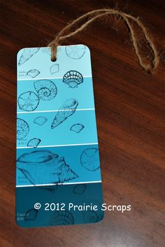 "Paintchip Bookmark -- MOPS craft -- maybe do splatter paint instead of stamps for ""beautiful mess"""