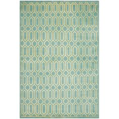 Found it at Wayfair - Mosaic Aqua / Light Gold Rug