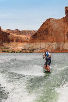 Wakeboarding fun on Lake Powell