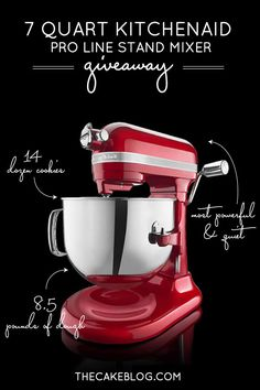 Your holiday baking will never be the same!  |  Enter to win this 7-qt KitchenAid Stand Mixer!!