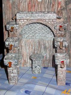 Tutorial de una fuente historiada – Nacimiento en Belén Coolpix, Miniture Things, Nativity, Arch, Scene, Outdoor Structures, World, Houses, Tutorials