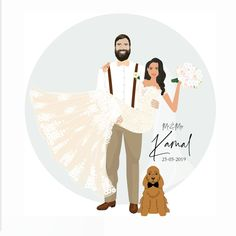 I really apologise for not being able to share many of my work pieces for the last month. Wedding Illustration, Minimal Decor, Wedding Guest Book Alternatives, Happy Thursday, Bridal Gifts, Wedding Portraits, Beautiful Bride, Bridal Style, Fancy Dress