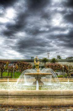 A fountain in San Francisco near Golden Gate Park