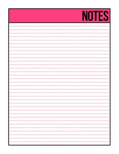 Pink Undated Weekly Planner Printable Week on 1 Page Letter Notebook Paper Printable, Weekly Planner Printable, Printable Paper, Writing Paper, Letter Writing, Pretty Letters, Calendar Templates, Binder Organization, Good Notes