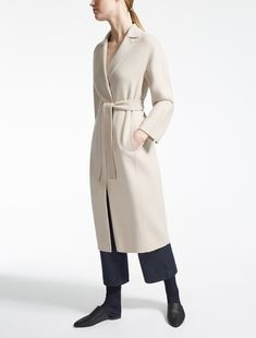"Wool and angora coat, albino - ""GIUNGLA"" Max Mara"