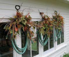garden hose wreaths
