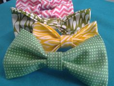 Spring Green Pixie Polka Dots Pet Collar Bow Tie by GymboHannah, $10.00