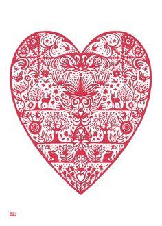 patterned heart ...♥...♥...♥...♥...♥