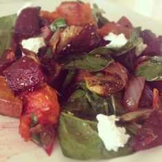 Roasted Sweets & Beets With Maple Vinaigrette