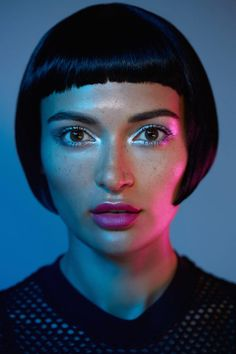This Tron-Inspired Beauty Shoot Makes Us Want to Visit the Grid An American In Paris, Coming To Theaters, Beauty Shoot, Ghost In The Shell, Short Haircut, Blade Runner, Glam Makeup, Disney Style, Funny Faces