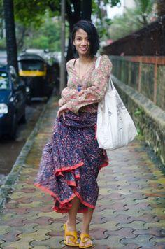 prints + skirt