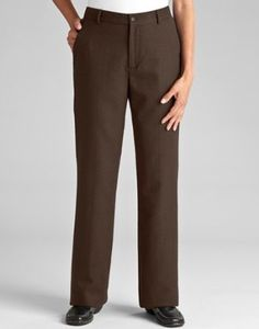 Cfo Wool Flannel Classic Trousers, Brown, 16 Orvis. $149.00