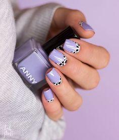 Light Purple Nails, Purple Ombre Nails, Purple Nail Art, Pastel Nail Art, Lilac Nails Design, Purple Nail Designs, Minimalist Nails, Stylish Nails, Trendy Nails