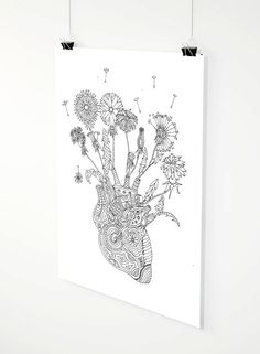 Fragile Heart adult coloring page by ZuskaArt on Etsy Anatomical Heart, Beautiful Drawings, Adult Coloring Pages, How To Draw Hands, Prints, Etsy, Nice Designs, Adult Colouring In, Adult Color By Number