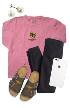 """""""just having a horrible day :'("""" by amsyes ❤ liked on Polyvore featuring J.Crew, Birkenstock, women's clothing, women, female, woman, misses and juniors"""