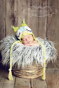 Sleepy Owl Hat by ModernMommyCrochet on Etsy, $45.00  cant wait to use this one either