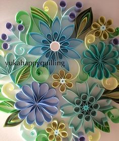 Modern home decor Round wall art Teal wall decor Modern decor for bedroom livin groom hallway bathroom Paper Towel Roll Crafts, Toilet Paper Roll Art, Toilet Paper Roll Crafts, Cardboard Crafts, Quilled Paper Art, Paper Quilling Designs, Quilling Paper Craft, Quilling Patterns, Quilling Ideas