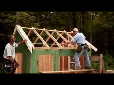 How To Build A Shed: Building & Installing Roof Rafters - YouTube
