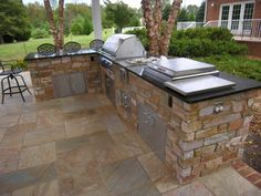Outdoor Kitchen With Dining Bar
