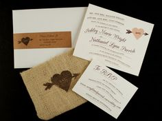Love these wedding invitations from Lemon Tree Paper Co.