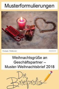 Weihnachtsgrüße an Geschäftspartner – Muster-Weihnachtsbrief 2018 Windows, Candles, Writing, Words, Blog, Secret Santa, Career, Christmas Cards, Christmas Time