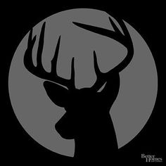 Whether you bagged a big one this year or are simply enchanted by a buck's elegant profile, our deer pumpkin stencil beautifully celebrates this graceful animal. And with its back to the harvest moon, this deer's silhouette e