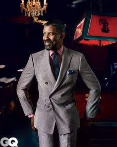 Men We Love - Denzel Washington Men In Black, Gentleman Mode, Gentleman Style, Denzel Washington, Sharp Dressed Man, Well Dressed Men, Look Fashion, Mens Fashion, Outfits Hombre