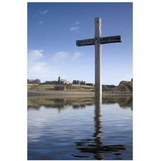 Cross In Water, Bewick, England by Eazl Premium Gallery Wrap, Size: 16 x 24, Multicolor