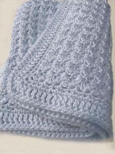 Crochet Baby Blanket Pattern - Chunky Crochet Baby Blanket - Bulky Yarn - Chunky Throw Pattern, Afghan - Pattern by Deborah O'Leary Patterns Easy Crochet Blanket, Crochet For Beginners Blanket, Knitted Baby Blankets, Crochet Blanket Patterns, Afghan Patterns, Beginner Crochet, Crochet Bebe, Chunky Crochet, Kids Crochet