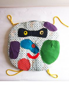 Something soft for your butt. (chair cushion) Splatter Face! by Doinky Doodles! #cushion