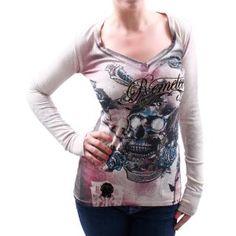 REMETEE By Affliction Rhinestone V-Neck Womens Thermal Shirt (Apparel)  http://www.jebew.com/zzz.php?p=B007TBHWA4  B007TBHWA4