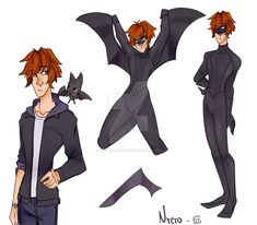 Oliver Walker 'Nycto' - Miraculous Ladybug (OC) by AllenKnightray on DeviantArt