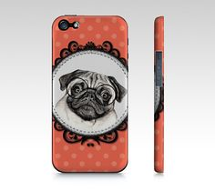 Pug dog phone case for iPhone 4/ 4S 5/ 5S Samsung by MimoCadeaux, $35.00