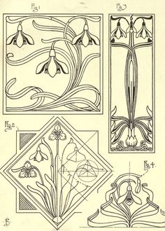27 ideas art deco design tattoo ink - Welcome to our website, We hope you are satisfied with the content we offer. Fleurs Art Nouveau, Motifs Art Nouveau, Azulejos Art Nouveau, Design Art Nouveau, Motif Art Deco, Bijoux Art Nouveau, Art Nouveau Pattern, Art Design, Sketch Design