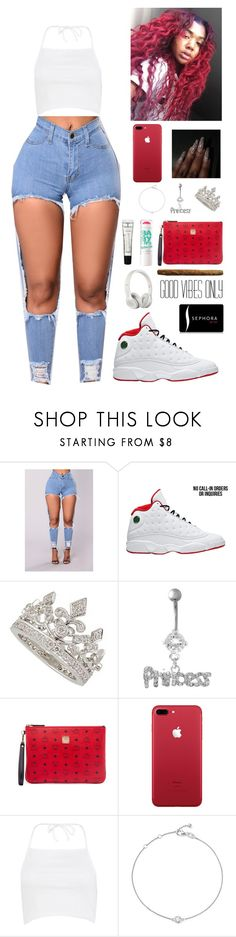 """""""394"""" by fashionfabulou ❤ liked on Polyvore featuring Garrard, MCM, Boohoo, Maybelline, M.A.C, Sephora Collection and Bloomingdale's"""
