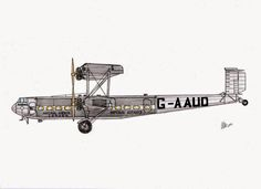 "AIRCRAFT DRAWINGS: Handley Page H.P.42  G-AAUD ""Hanno"".  Imperial Air..."