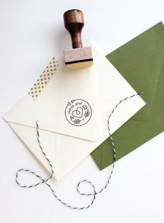 Custom Monogram Stamp by Gold Fox Paper Wedding Branding, Wedding Logos, Monogram Wedding, Wedding Themes, Wedding Stationery, Wedding Designs, Wedding Cards, Wedding Invitations, Wedding Monograms