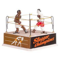 Bokswedstrijd in boksring - De Oude Speelkamer