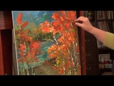 Palette Knife Painting - Acrylic Painting Technique - YouTube