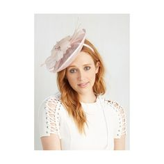 Vintage Inspired You Know You Flaunt It Fascinator ($37) found on Polyvore featuring accessories, hair accessories, blush, fascinator, headband hair accessories, fascinator hats, flower headband, feather fascinator and hair bands accessories